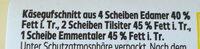 Käse-Aufschnitt - Ingredients - de
