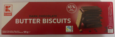 Butter Biscuits - Dark Chocolate - Product - pl