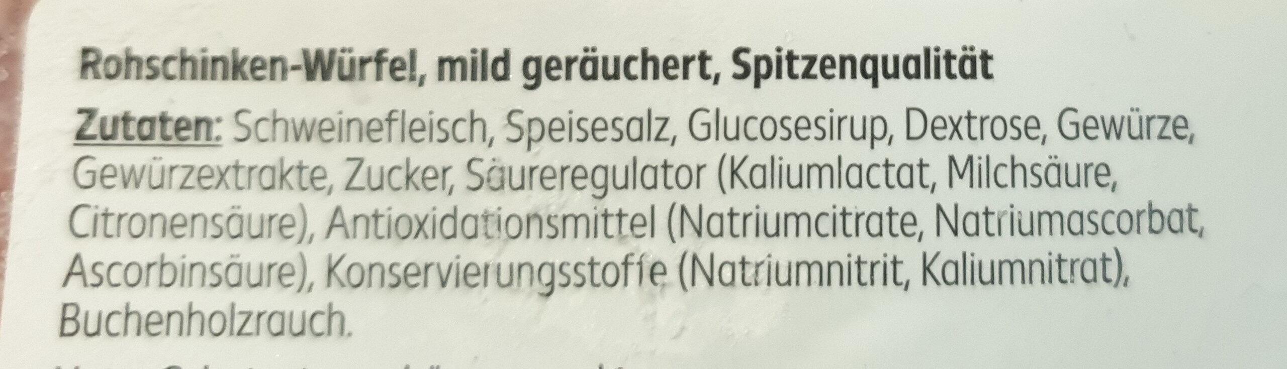 Rohschinken-Würfel / Lardons - Ingredients