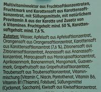 Light Multivitaminnektar - Ingredienti - de