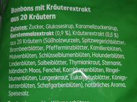 Halsbonbon Kräuter - Ingredients