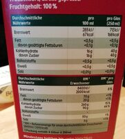 Premium Trauben Saft - Valori nutrizionali - fr