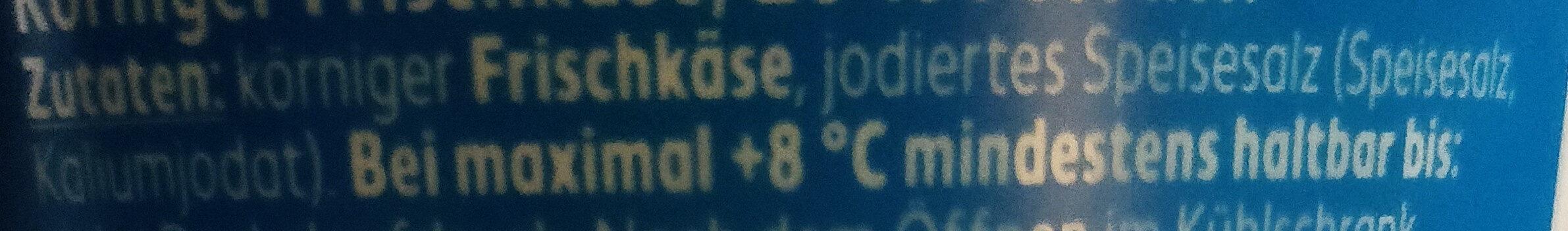 Körniger Frischkäse - Ingrédients - de
