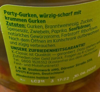 Party Gurken - Ingredients - de