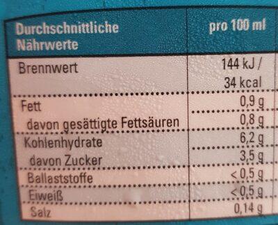 Bio Kokos Reis Drink - Informations nutritionnelles