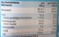 Joghurt mild - Valori nutrizionali - de