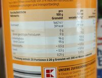 Teegetränk Pfirsich - Valori nutrizionali - de