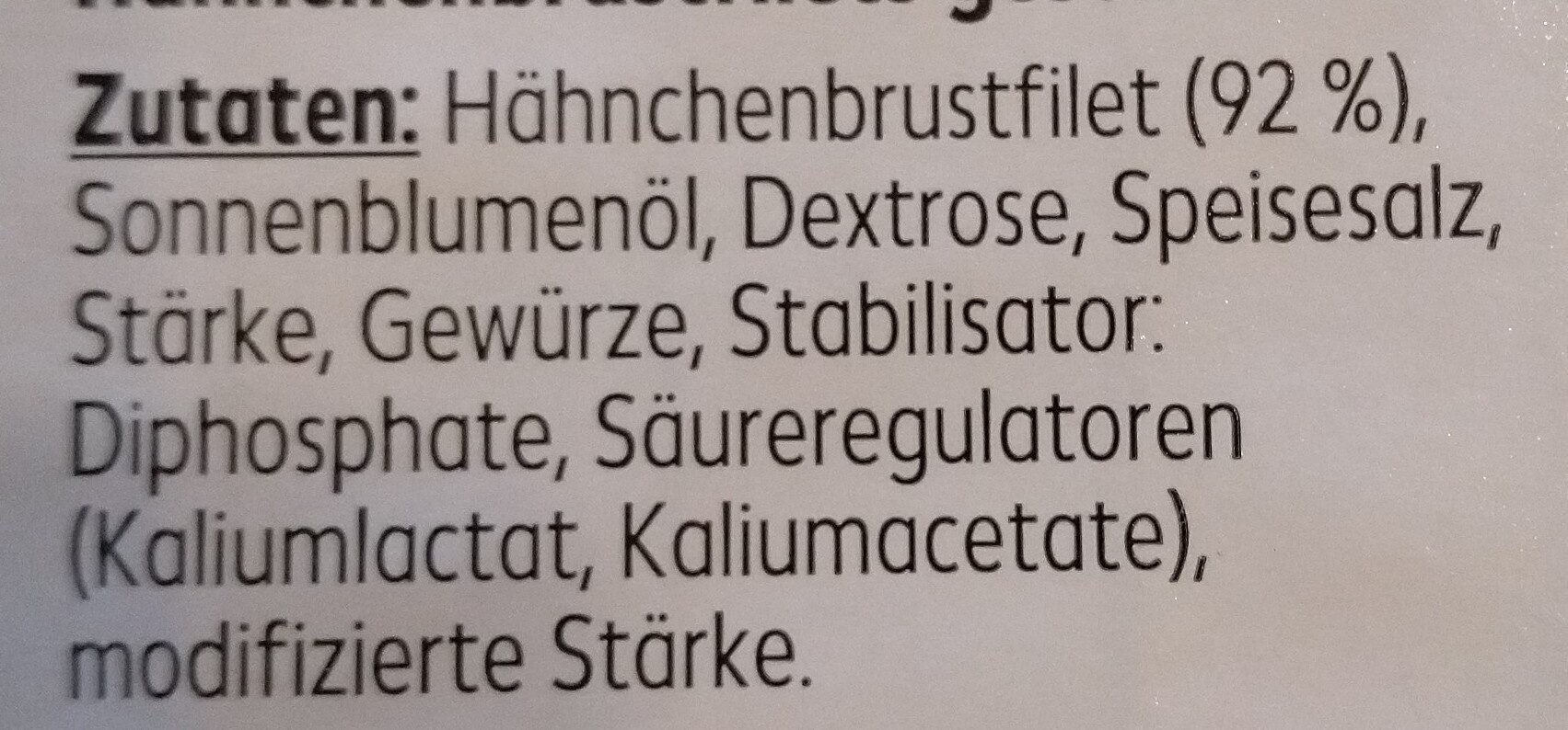 Hähnchenbrustfiletstreifen - Zutaten - de