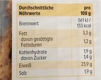 Hähnchenbrustfiletstreifen - Nährwertangaben - de