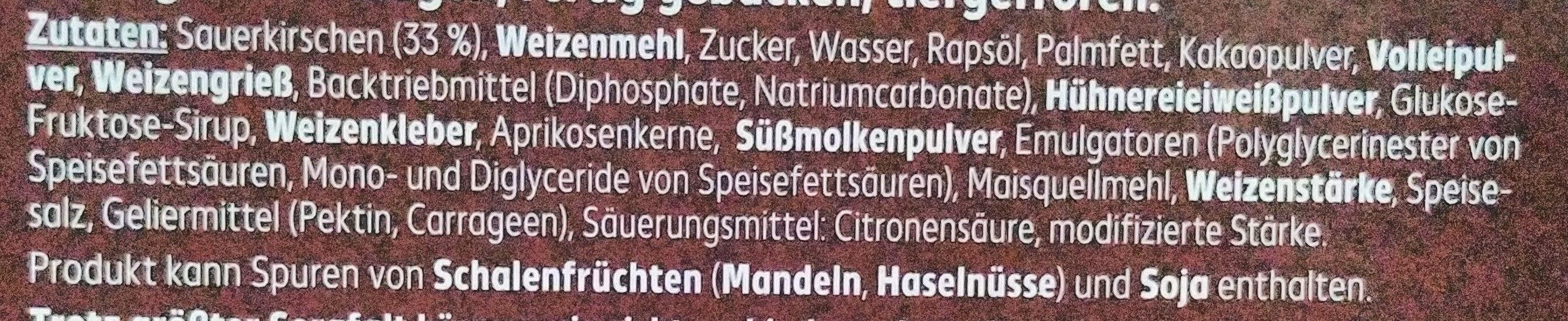 Kirsch-Schokokuchen - Ingredients