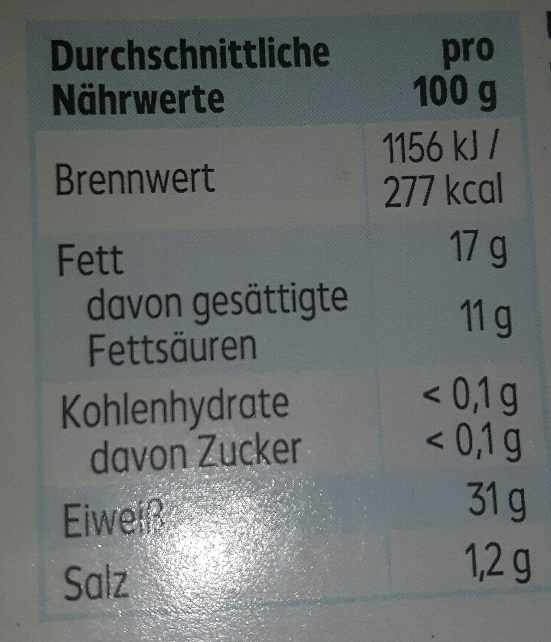 Maasdamer - Nutrition facts