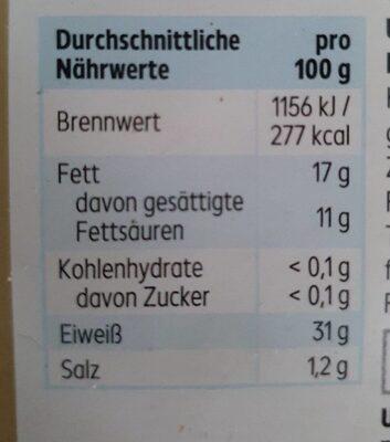 Maasdamer light - Valori nutrizionali - de