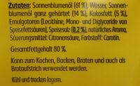 Sonnenblumenmargarine - Ingrédients - de