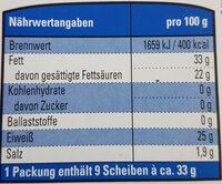 K Classic Gouda g.g.A. mittelalt - Voedingswaarden - de