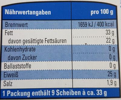 K Classic Gouda g.g.A. mittelalt - Voedingswaarden