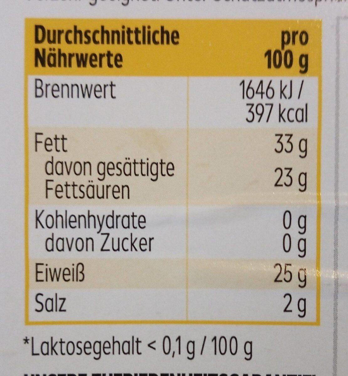 Gouda Holland g.g.A. mittelalt - Voedingswaarden - de