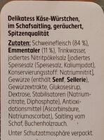 Käse-Würstchen - Ingredients