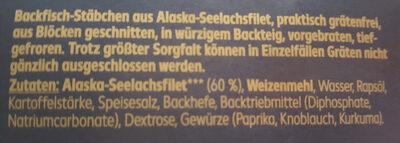 Backfischstäbchen - Zutaten - de