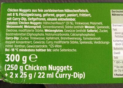 chicken nuggets - Ingredients