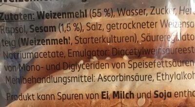 Mega Hamburger Brötchen - Ingrédients