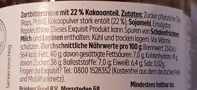 dunkle Kakaocreme - Ingrediënten - de