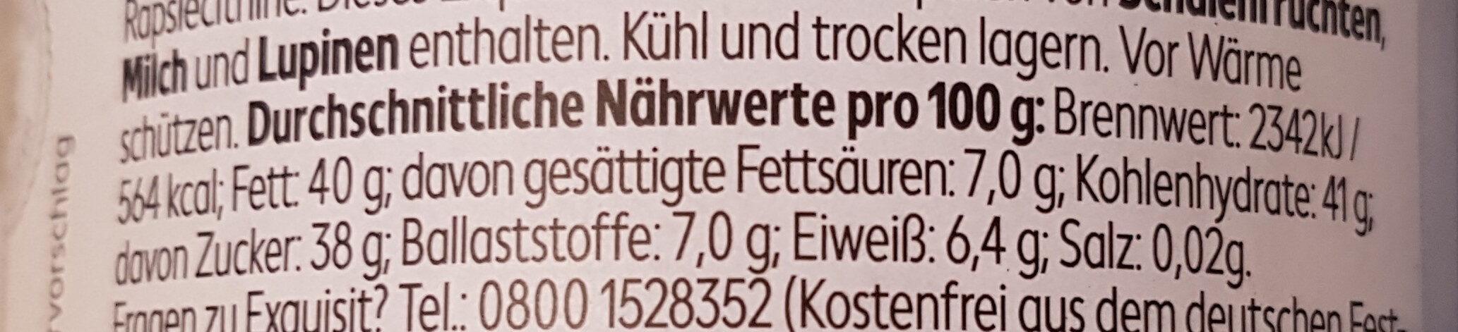 dunkle Kakaocreme - Voedingswaarden - de