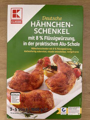 Deutsche Hähnchenschenkel mit 8% Flüssigwürzung - Produkt - de