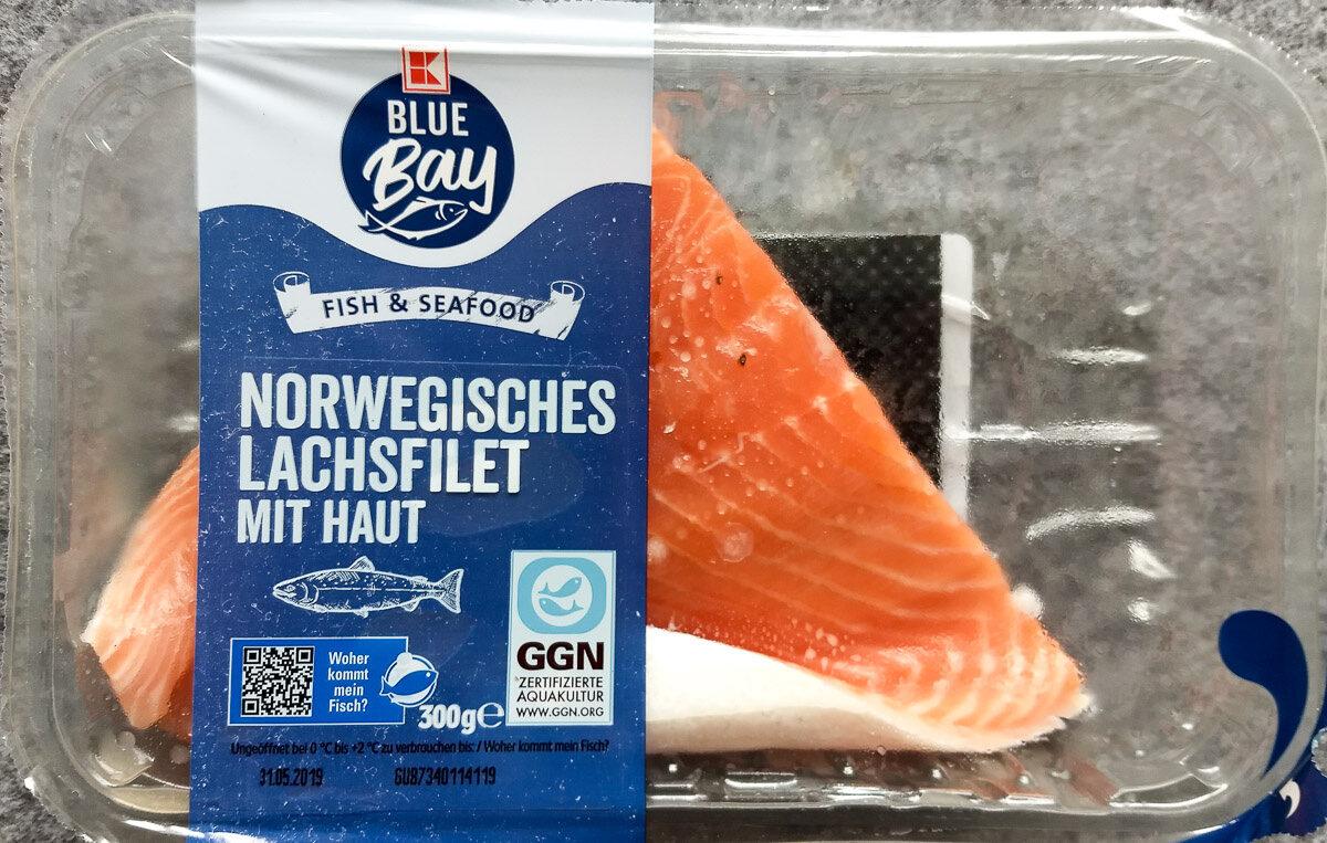 Norwegisches Lachsfilet mit Haut - Product