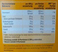 Kartoffelpüree - Nährwertangaben - de