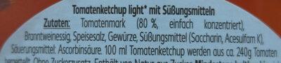 Tomaten ketchup light - Ingredients - de