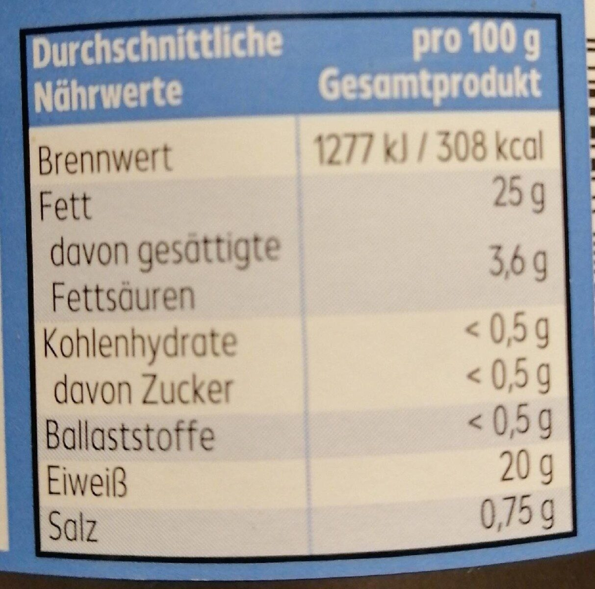 Thunfisch Filets in nativen Olivenöl extra - Nutrition facts - de