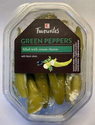 Zelené papriky plněné smetanovým sýrem - Produkt - cs