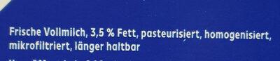 Frische Vollmilch - Ingrédients - de