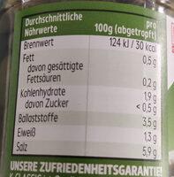 Kapern - Nutrition facts - fr