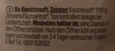 Karottensaft - Ingredienti - de