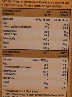 Bio Hafer Dink - Nährwertangaben - de