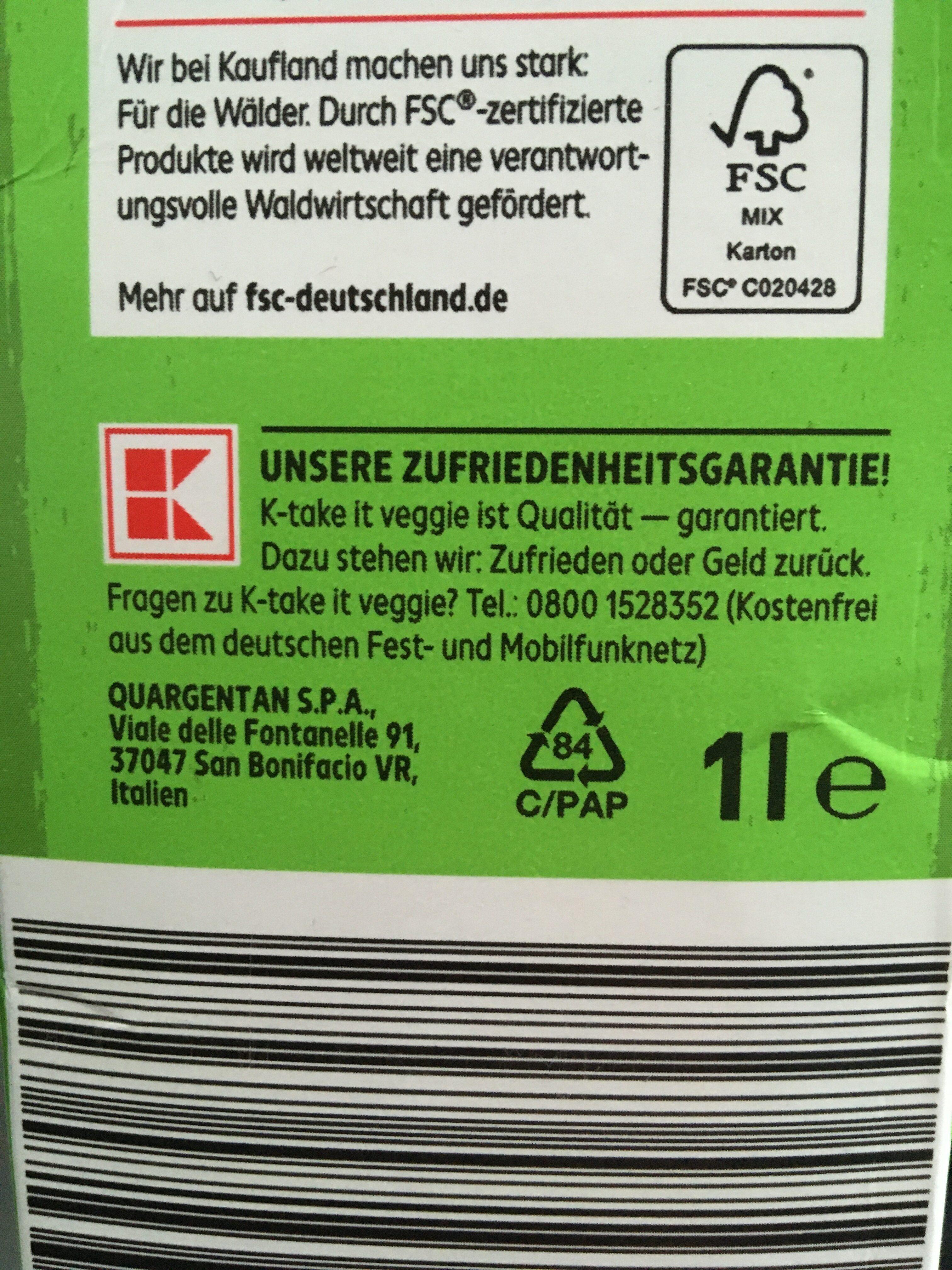 Bio Reisdrink - Wiederverwertungsanweisungen und/oder Verpackungsinformationen - de