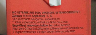 Soja Drink ungesüßt - Ingredients - de
