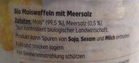 Maiswaffeln mit Meersalz - Ingredients - de