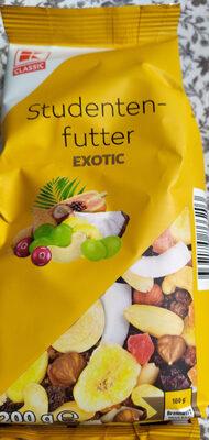 Mischung von Nusskernen, getrockeneten Früchten und Bananenchips - Product - de