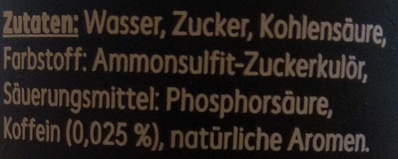 Strong Cola - Ingredienti - de