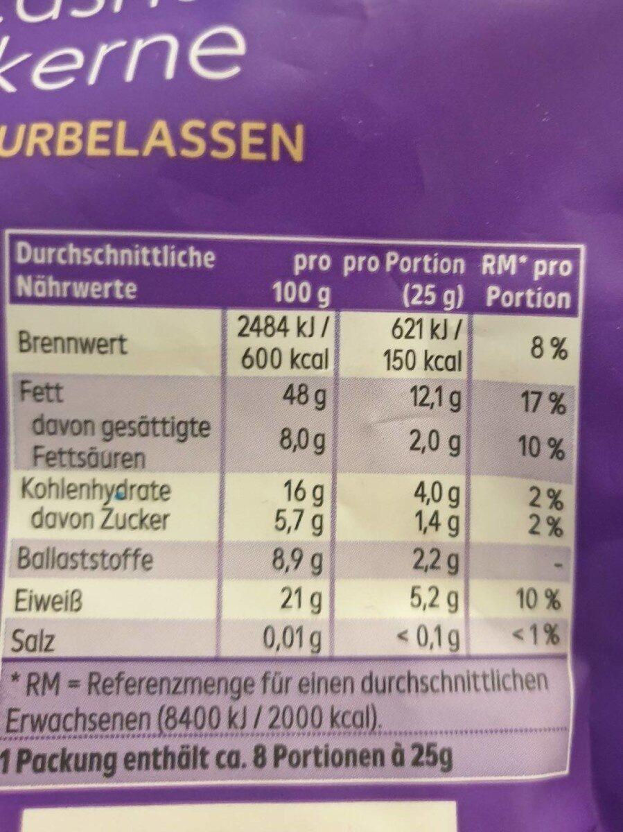 Chshewkerne - Valori nutrizionali - de