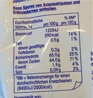 Ja! Softdatteln - Nutrition facts - de