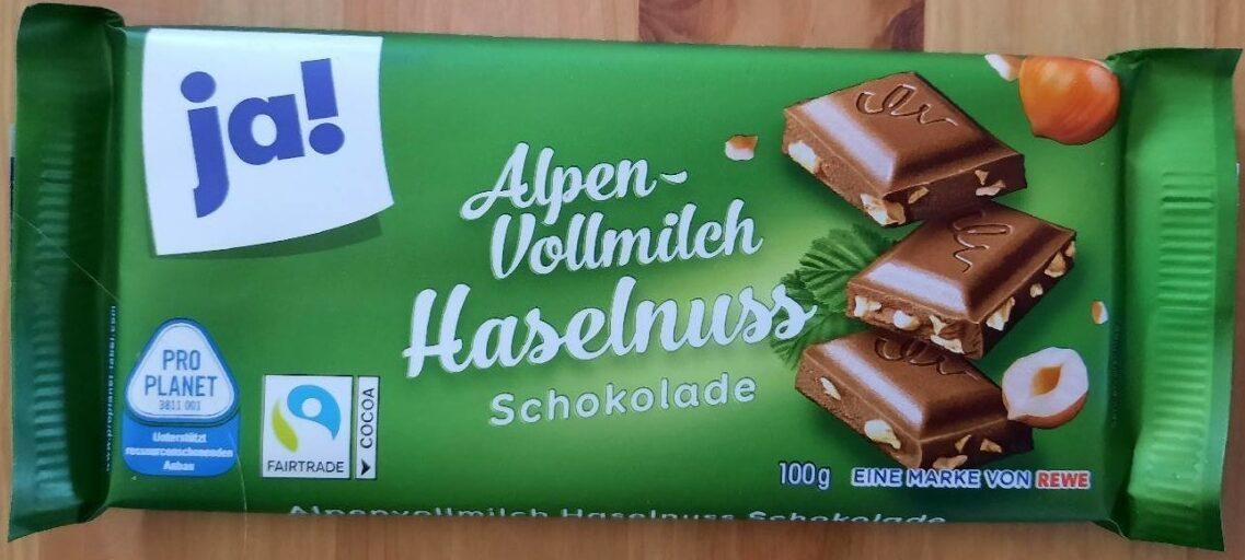 Alpen-Vollmilch Haselnuss - Product - de