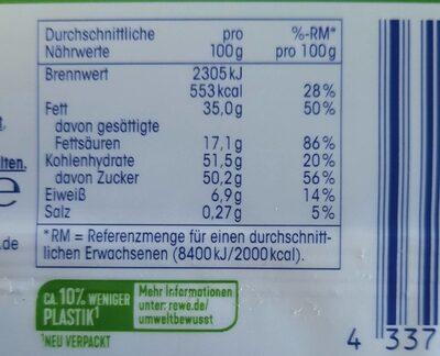 Alpen-Vollmilch Haselnuss - Voedingswaarden - de