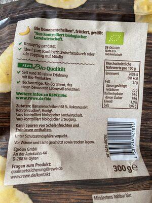 Bananenchips - Zutaten - de