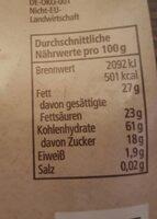 Bananenchips - Nährwertangaben - de