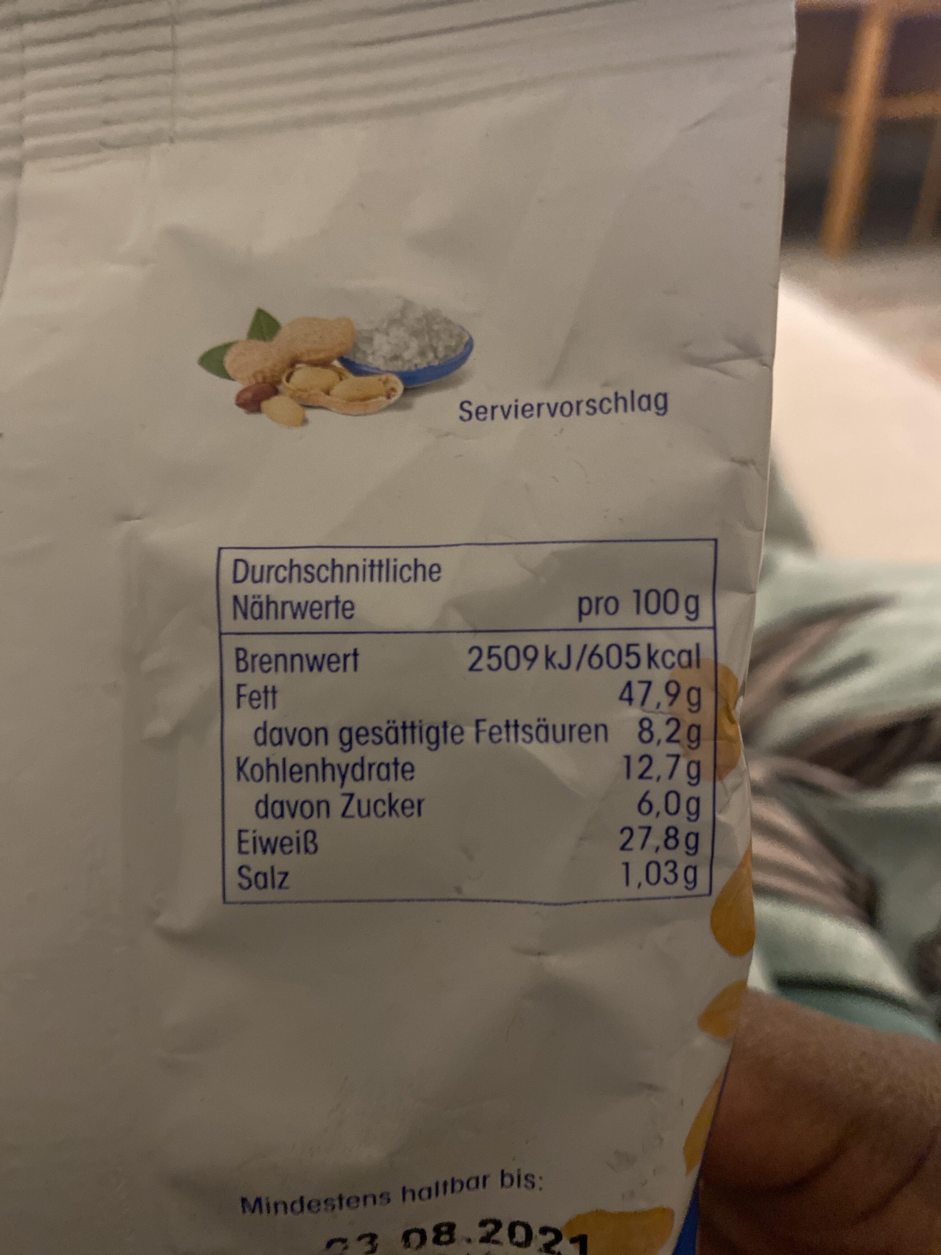 JA! Erdnuesse - Ingredients - de