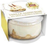 Vanille-Sahnecreme auf Apfel-Karamell Kompott - Product - de