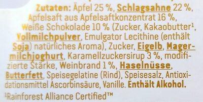 Vanille-Sahnecreme auf Apfel-Karamell Kompott - Ingredients - de